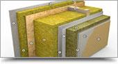 Esposizione di pareti per case in bioediizia