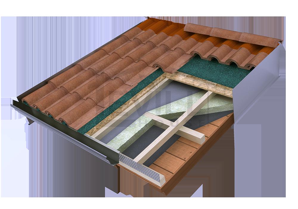 Tipologie e stratigrafie dei tetti in bioedilizia di cosa for Tetti in legno particolari costruttivi