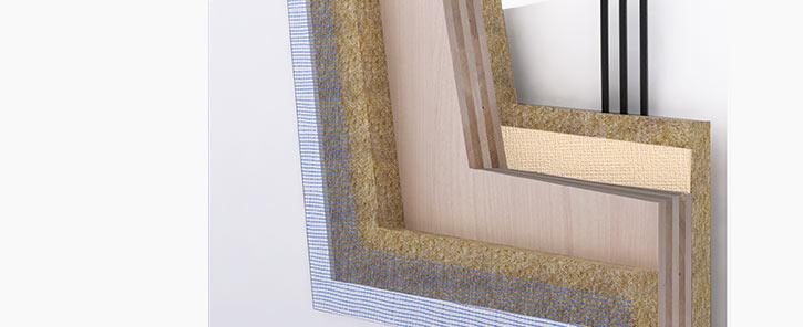 Pareti prefabbricate stratigrafia da interno e da esterno for Moderne case a telaio