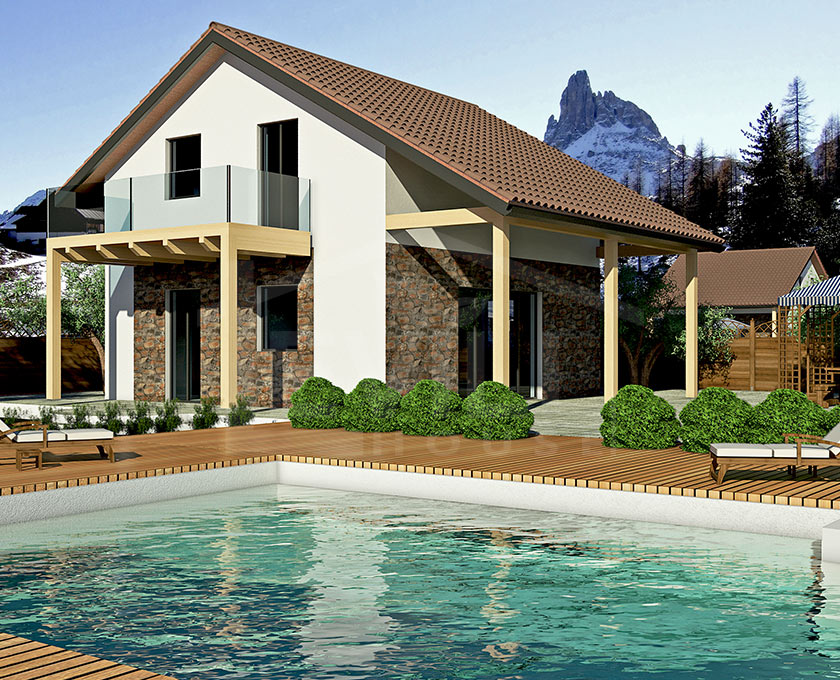 Arianna progetto casa in bioedilizia case for Piani di costruzione casa moderna