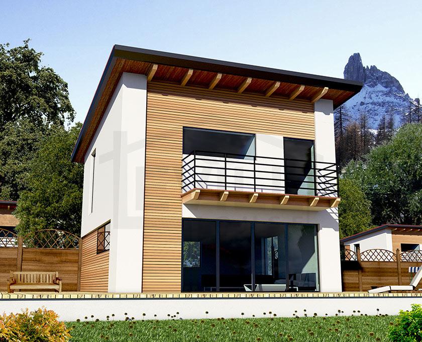 Eccezionale Elena - Progetto casa in bioedilizia - Case prefabbricate in legno BR71
