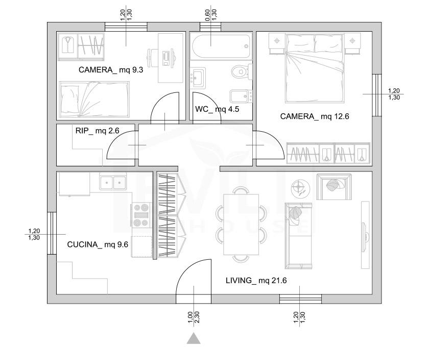 Elettra progetto casa in bioedilizia case for Progetti di piani casa fienile