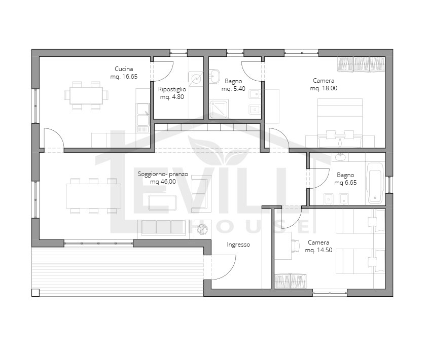 Medusa progetto casa in bioedilizia case prefabbricate for Modelli e piani di case