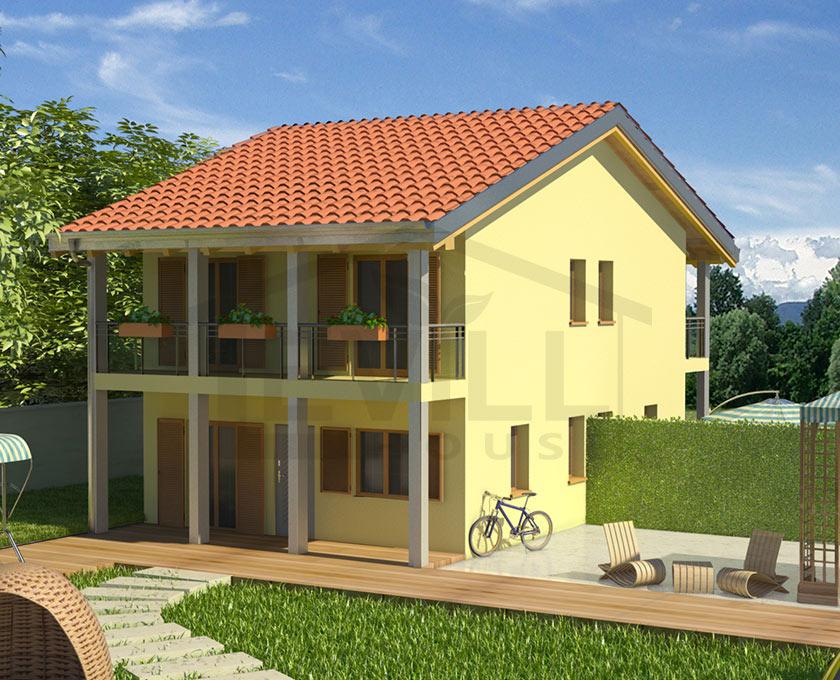 Sabrina progetto casa in bioedilizia case for Villette prefabbricate in muratura prezzi