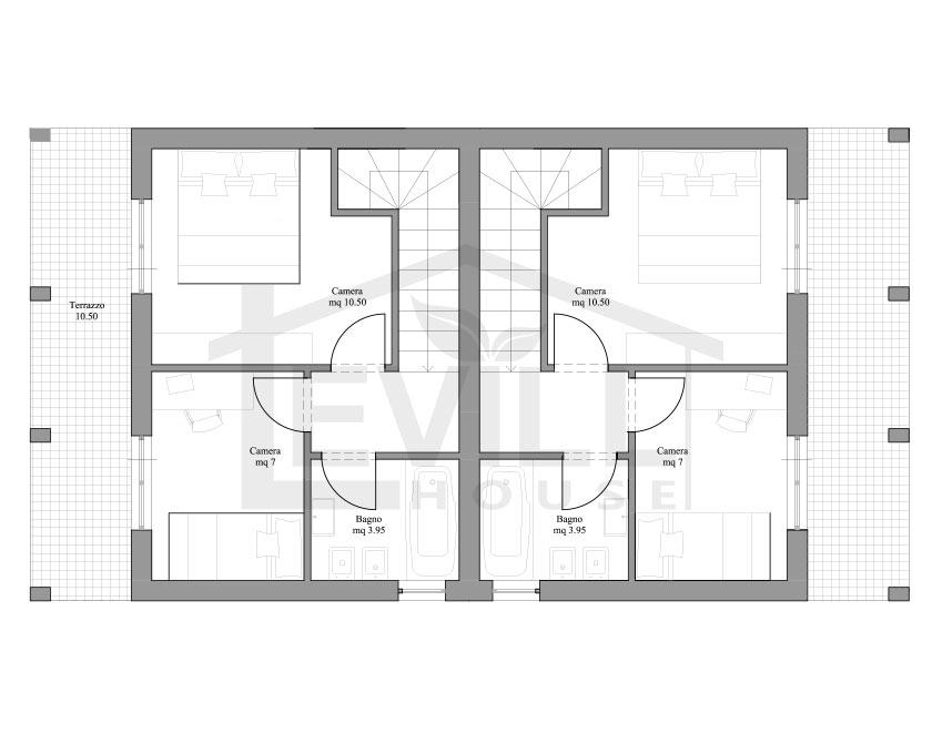 111 piante di ville moderne progetti villette for Progetti case moderne interni