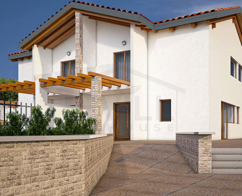 Ulisse progetto casa in bioedilizia case prefabbricate for Villette moderne progetti