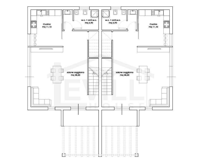 Piante case moderne progetti di case in legno moderne for Planimetrie ville moderne