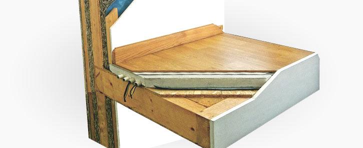 I solai nelle case prefabbricate in legno sono la coperta for Platea per casa in legno