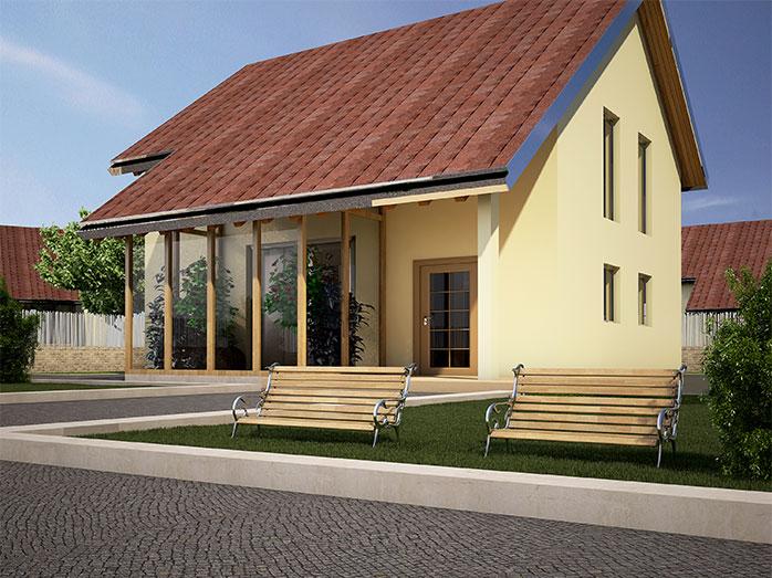 Andromaca progetto casa in bioedilizia case for Case moderne classiche