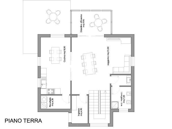 Andromaca - Progetto casa in bioedilizia - Case prefabbricate in legno