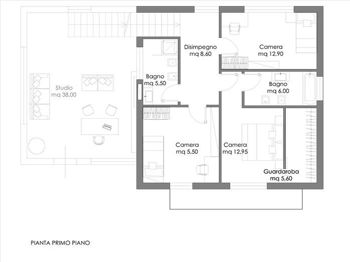 Olympia progetto casa in bioedilizia case for Progetti di case moderne